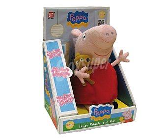 PEPPA PIG Peluche suave, blandito, musical y con voz 1 unidad