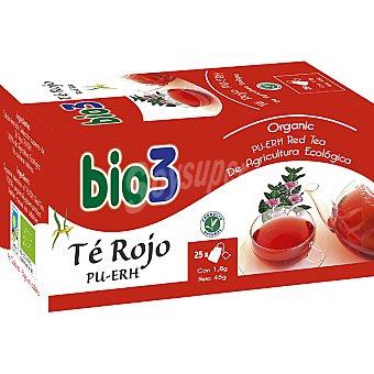 BIO3 té rojo adelgazante y antienvejecimiento ecológico envase 25 sobres