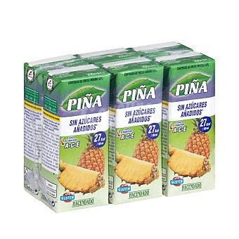 Hacendado Bebida piña (sin azucares añadidos) 6 x 200 ml