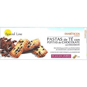 Special Line Pastas de té con pepitas de chocolate con edulcorante sin azúcares añadidos envase 205 g 15 unidades