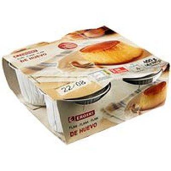 Eroski Flan de huevo Pack 4x100 g