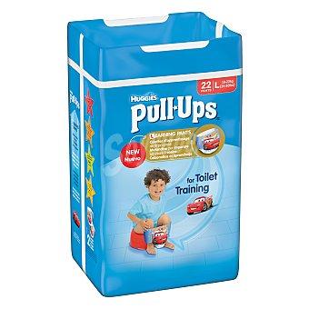 HUGGIES PULL UPS calzoncillo de aprendizaje para niño talla 6 16-23 kg  bolsa 22 unidades