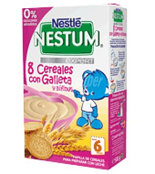 Nestlé Papilla Nestum expert 8 cereales con Galleta y Bífidus 500 g