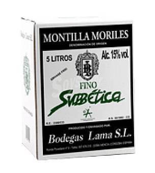 Subetica Vino Montilla Moriles Garrafa de 5 l