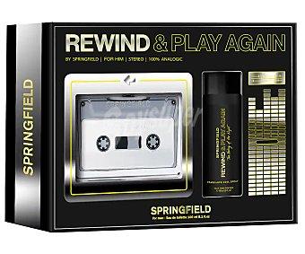 Springfield Estuche regalo para hombre con la forma de un walkman Rewind & paly again rewind & play again