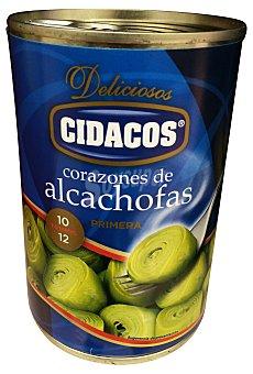 Cidacos Alcachofa corazones medianos 10/12 piezas conserva Bote 390 g escurrido