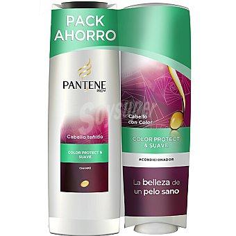 Pantene Pro-v Champú Color Protect & Suave + acondicionador frasco 250 ml pack ahorro Frasco 300 ml