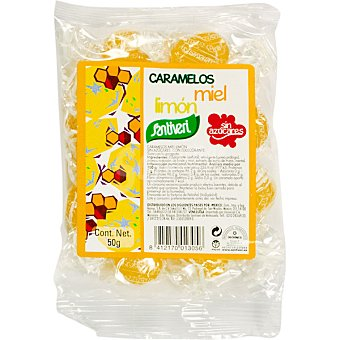 Santiveri Caramelos de miel-limón sin azúcar Bolsa 50 g