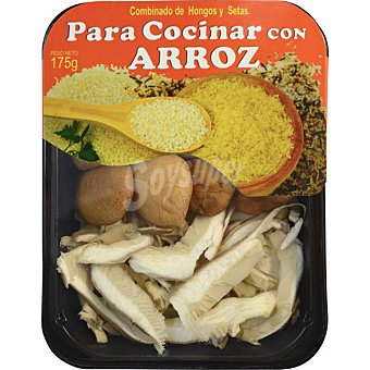MANCHUELA VERDE Combinado de hongos y setas para cocinar con arroz bandeja 175 g Bandeja 175 g