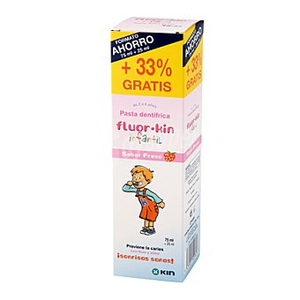 Kin Pasta dentífrica infantil de 2 a 6 años Fluor 100 ml