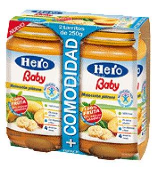 Hero Baby Tarrito Melocotón y Plátano Pack de 2x250 g
