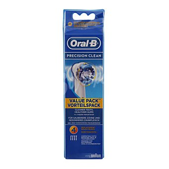 Oral-B Recambio Cepillo Eléctrico precision clean 4 Unidades