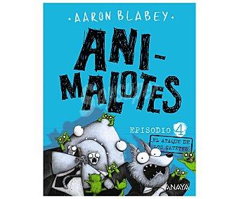 Anaya Animalotes 4: El ataque de los gatetes, aaron blabey. Género: ifantil. Editorial Anaya.