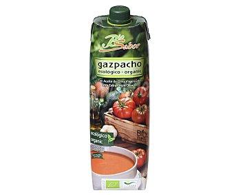 Biosabor Gazpacho ecológico bajo en sal con aceite de oliva virgen extra Brick 1 l