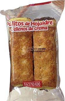 HACENDADO Surtido granel palito hojaldre relleno de crema  2 unidades de 75 g