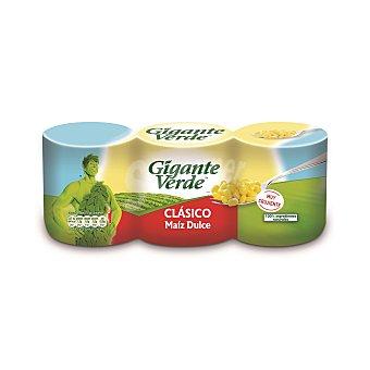 Gigante Verde Maíz dulce original Pack 3 x 140 g