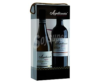 Azpilicueta Estuche de vino tinto crianza con denominación de origen Rioja + vino blanco con denominación de origen Rioja 75 centilitros