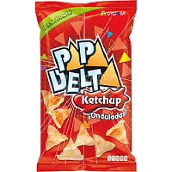 Grefusa Papadelta ondulada sabor ketchup Bolsa 65 g