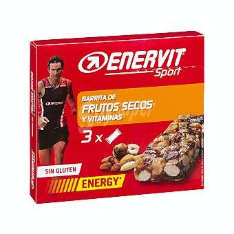 Enervit Sport Barrita energetica frutos secos y vitaminas para deportistas Caja 3 u