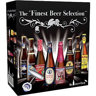 THE FINEST BEER SELECTION Estuche selección 8 cervezas con abridor botella 33 cl botella 33 cl