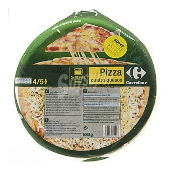 Carrefour Pizza 4 quesos 580 g