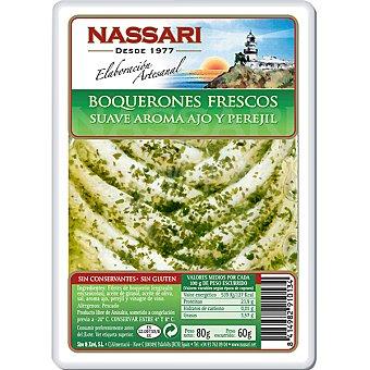 Nassari Boquerones fresco suave aroma ajo y perejil Tarrina 60 g neto escurrido