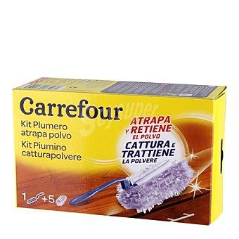 Carrefour Plumero atrapapolvo + 5 recambios Plumero + 5 recambios