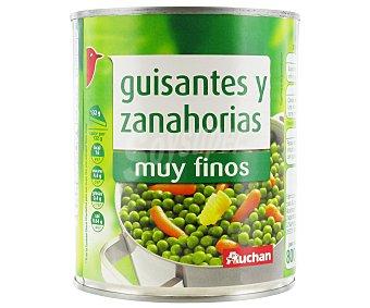 Auchan Guisantes muy Finos, con Zanahorias Lata de 530 Gramos