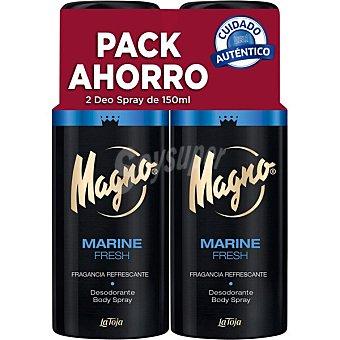 Magno Desodorante Marine pack ahorro Pack 2 spray 150 ml