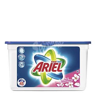 Ariel Detergente Concentrado Excel Gel Sensaciones cápsulas 45 ud