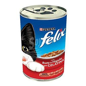 Felix Purina Comida para gatos Hígado y Buey Lata 390 gr