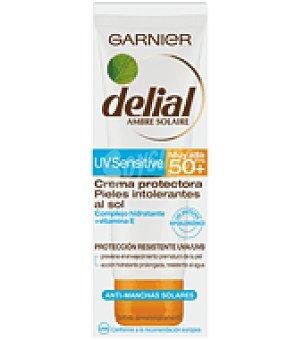 Delial Garnier Crema solar facial para pieles intolerantes al sol factor de protección 50+ 75 ml