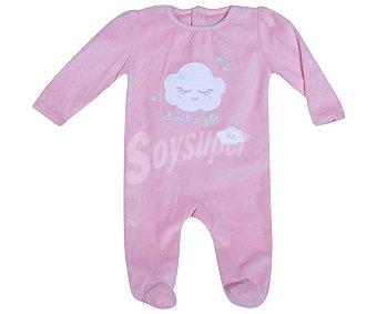 In Extenso Pijama pelele de bebe aterciopelado, color coral, talla 74