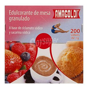 Amagoldi Edulcorante de mesa granulado en sobres Pack de 200x1 g