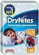 Calzoncillos de noche absorbentes para niños 3-5 años, 16-23 kg Paquete 16 unidades Dry Nites