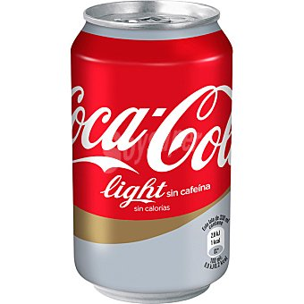 Coca-Cola Refresco light sin cafeina Lata 33 cl