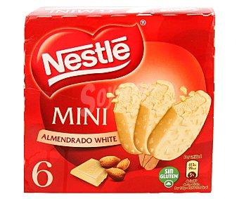 Nestlé Minibombón almendrado de chocolate blanco  6 unidades (estuche 240 ml)