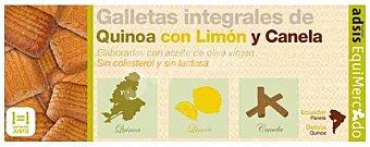 EQUIMERCADO Galleta de quinoa-limón-canela Bolsa 125 g