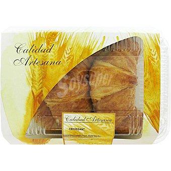 Hipercor croissant de mantequilla producción propia bandeja 222 g 3 unidades
