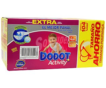 Dodot Activity Extra Pack Ahorro T4 104 uniddes
