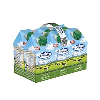 Central Lechera Asturiana Leche Desnatada Pack 6x50 cl