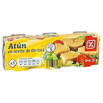 DIA Atun en aceite de girasol Pack de 3 latas x 52 grs