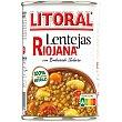 Lentejas a la riojana Litoral sin gluten y sin lactosa 430 g Litoral