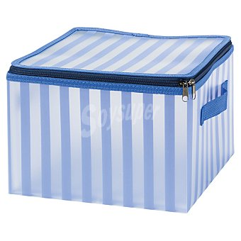 CASACTUAL Strippes Caja Pequeña con asa en color azul a rayas 13,5 l 13,5 l