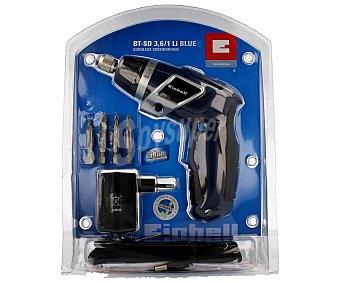 EINHELL Atornillador sin cable, reversible, con bateria de litio de 3,6V y 1.3 Amperios hora 1 unidad