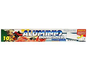 MACOPACK Papel de Aluminio 10 Metros