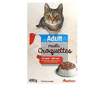 Auchan Comida seca para gatos multicroc de buey 400 gr