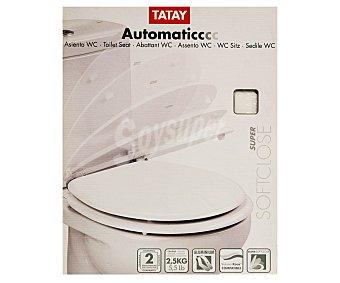 Tatay Tapa de plástico para Wc con caída lenta 1 Unidad