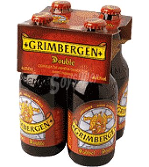 Grimbergen Cerveza de Abadía belga tostada Pack de 4 botellas de 33 cl