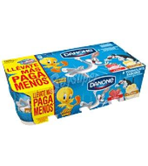 Danone Yogures de Fresa y de Plátano pack de 8x125 g